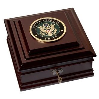 Custom Made U.S. Army Medallion Desktop Box