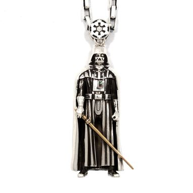 Custom Made Darth Vader Pendant - Precious Metals