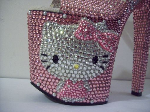 Custom Made 3d Crystallized Hello Kitty Heels