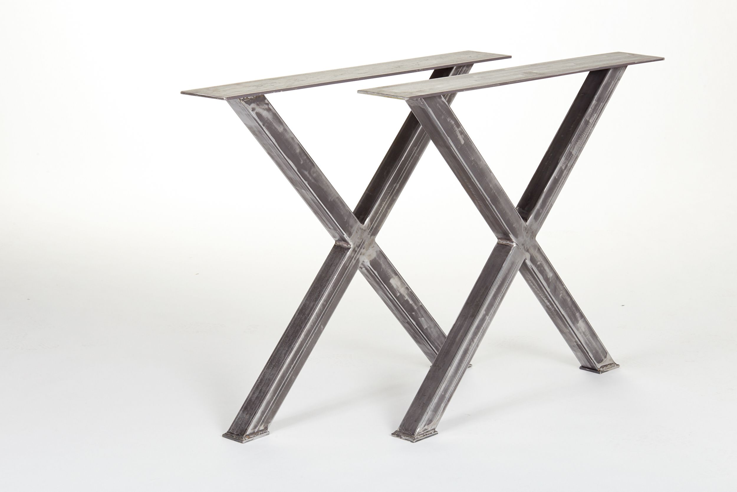 Handmade Industrial Steel Dining Table X Legs by The Urban