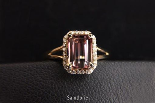 Custom Made 1.6 Carat Bi-Color Tourmaline Engagement Ring