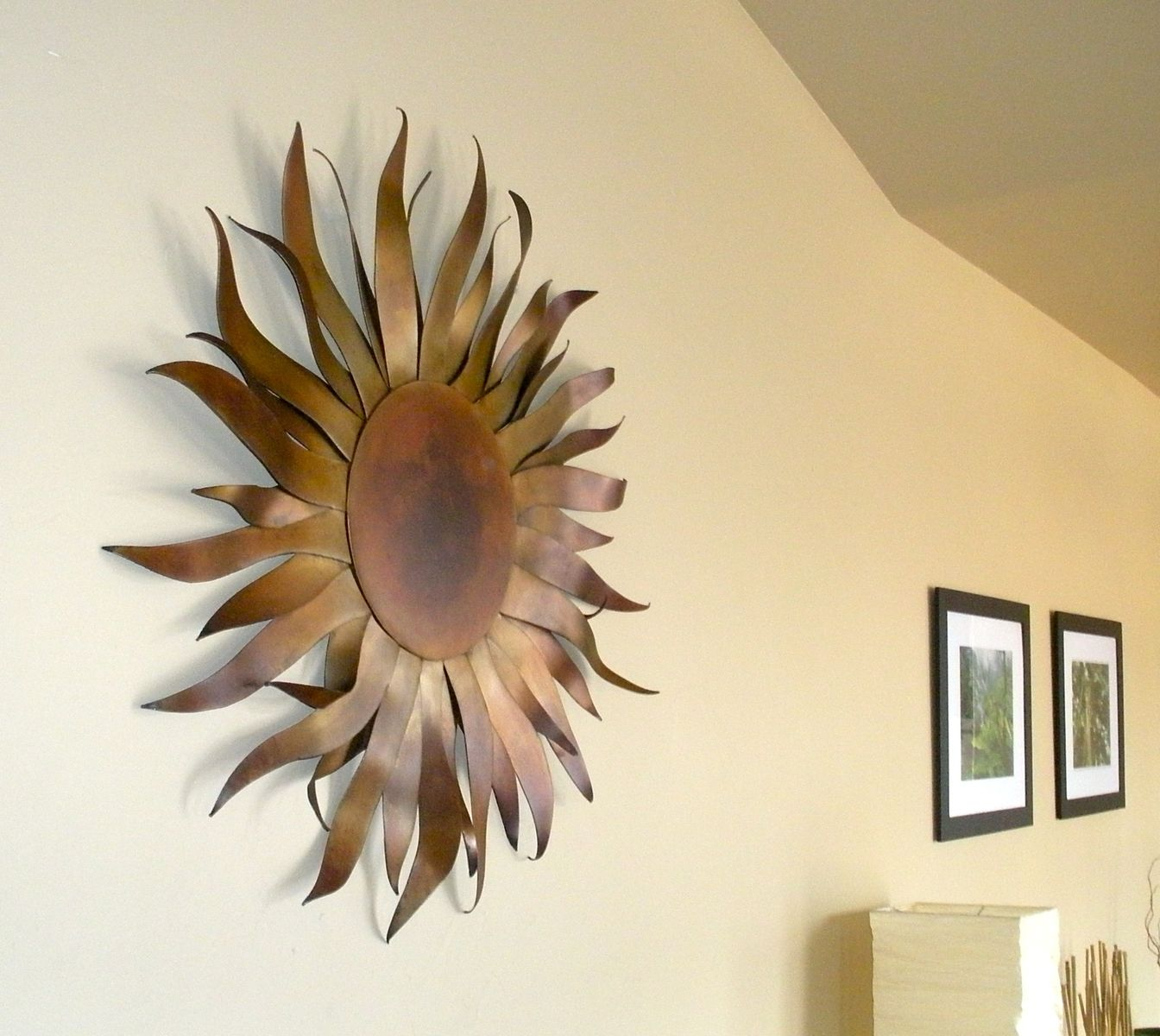 custom made original metal sun sculpture wall art by aura waterfalls. Black Bedroom Furniture Sets. Home Design Ideas