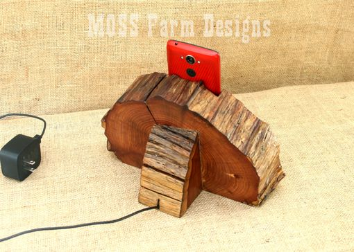 Custom Made Rustic Phone Dock Iphone Charging Station Droid Holder