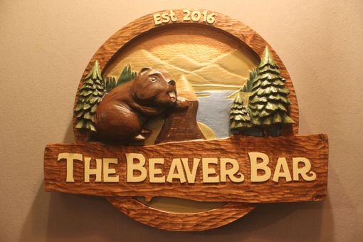 Custom Made Beaver Signs, Bear Signs, Deer Signs, Wolf Signs, Wildlife Signs By Lazy River Studio