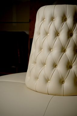 Custom Made Borne Settee In Vinyl Cream Color