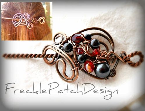 Custom Made Bride And Bridesmaid Copper Hair Clip