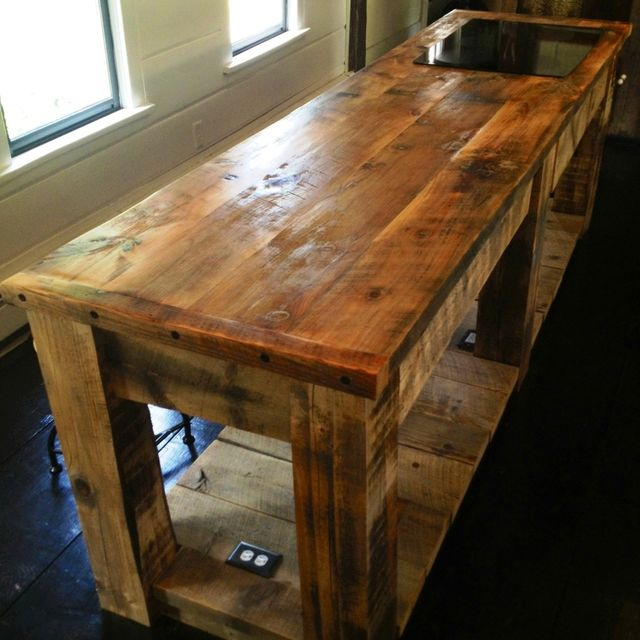 Kitchen Island Rustic hand crafted rustic kitchen islande.b. mann | custommade