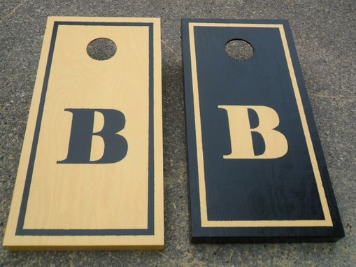 Hand Crafted Personalized Monogram Custom Corn Hole