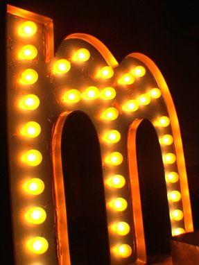 Custom Made Large Huge Vintage Marquee Art Letter Bulb Channel 3ft X 2.5 - 3ft