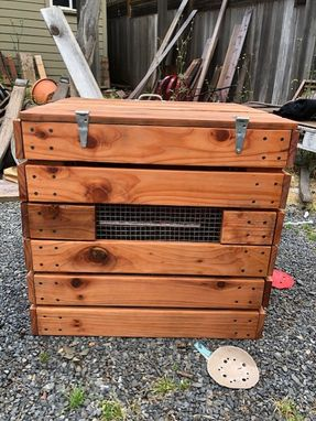 Custom Made Redwood Composter