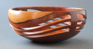 Custom Made Cocobolo Open Wave Bowl