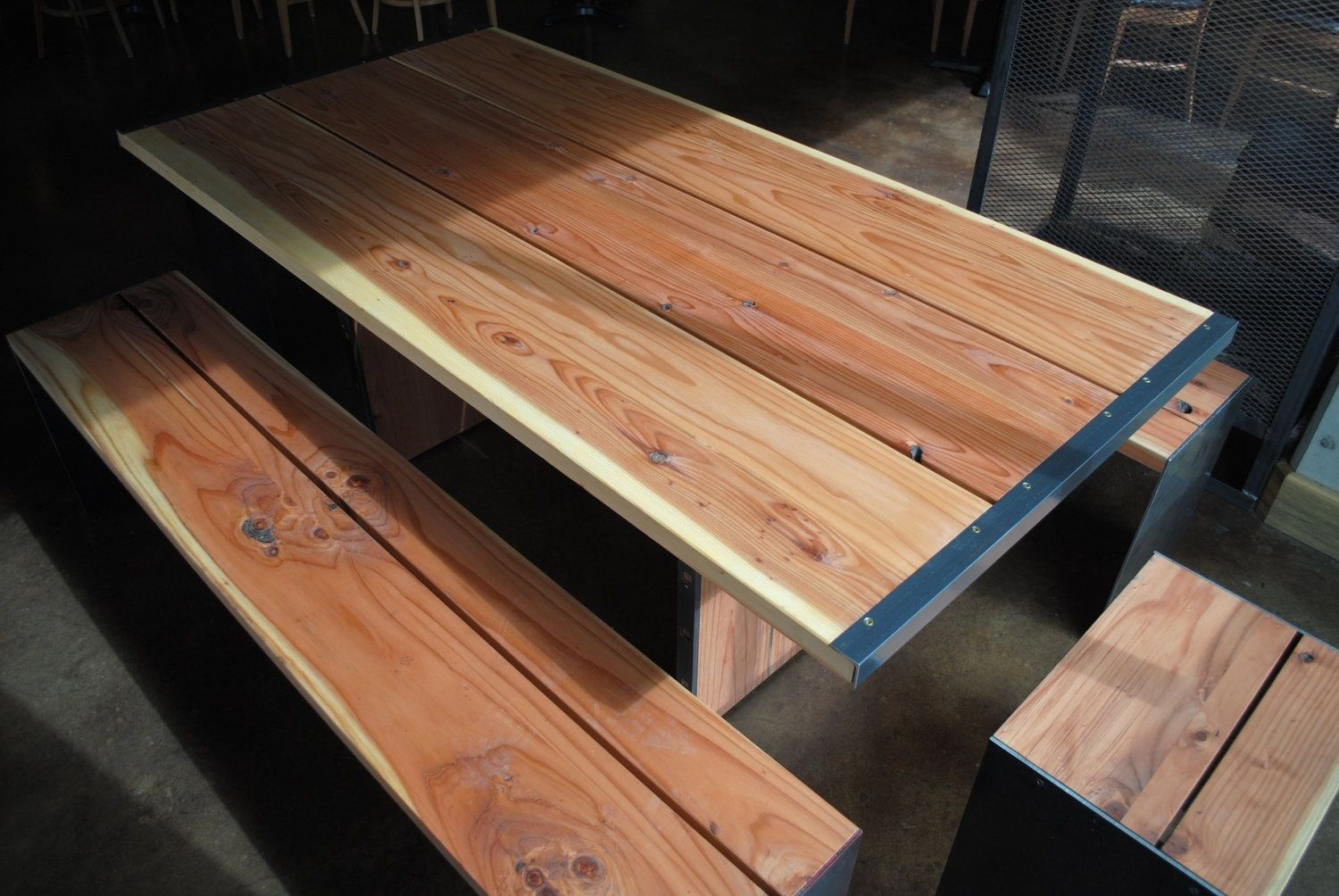 Custom Hand Made Outdoor Dining Tables By Bolderelements