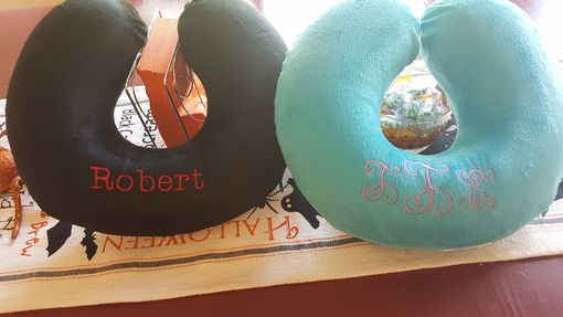 Custom Made Monogram Travel Pillows - Memory Foam - So Soft!