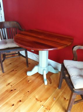 Custom Made Round Drop Leaf Table
