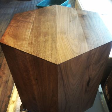 Custom Made Hexagon Walnut Modern Geometric Table