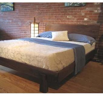 Custom Made Walnut Enso Platform Bed