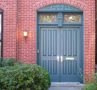 Custom Made Entry Doors - Mahogany
