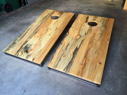 Buy Custom Made Beetle Kill Pine Cornhole Bag Boards