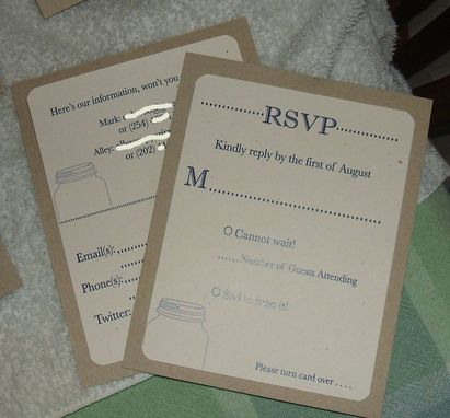 Custom Made 100 Rustic Mason Jar Invitation Suites, Kraft Paper And Twine Make A Fun Combo