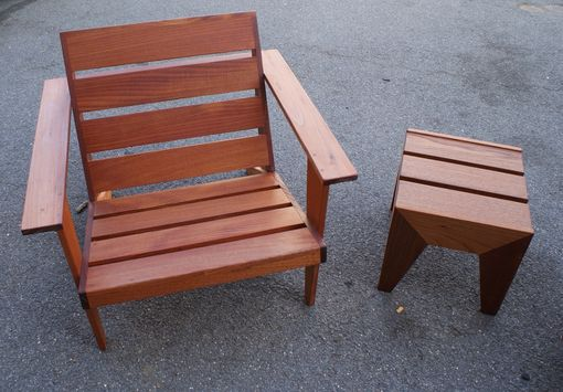 Custom Made Modern Adirondack Chair And Table