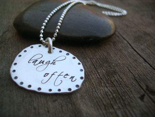 Custom Made Hand Stamped Nugget Necklace