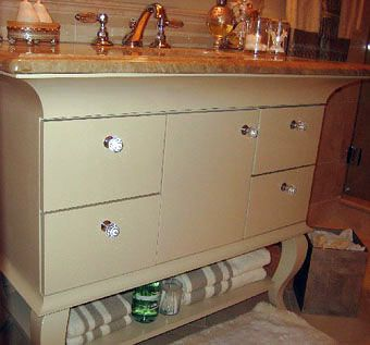 Custom Made Queen Anne Bathroom Cabinet With Granite