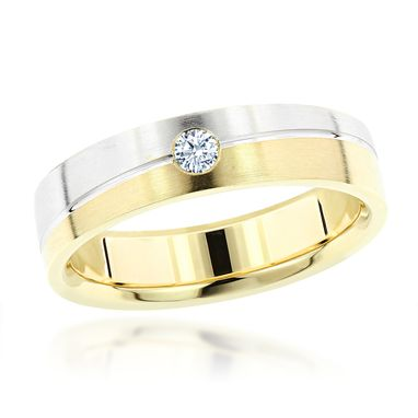 Custom Made Inverse Mens Diamond Wedding Band