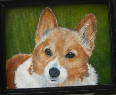 Custom Made Custom Dog Pet Portrait Of Buffy, A Pembroke Welsh Corgi