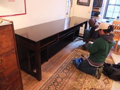 Custom Made Chelsea Desk With Piano Shelf