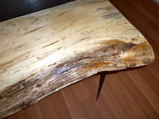 Custom Made Sofa Table -Live Edge Sugar Maple