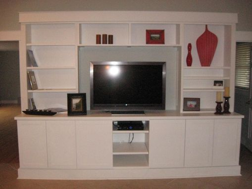 Custom Made Bookcase And Media Center