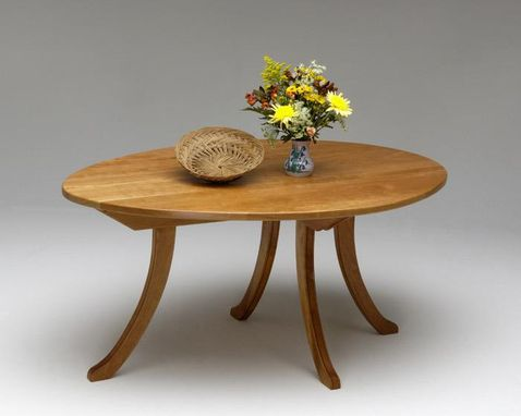 Custom Made Egg-Shaped Cherry Table