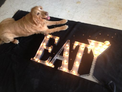 Custom Made Industrial Lighting Eat Martini Glass Sign