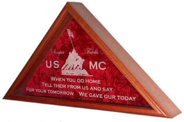 Buy A Hand Crafted Personalized Flag Display Case American Flag
