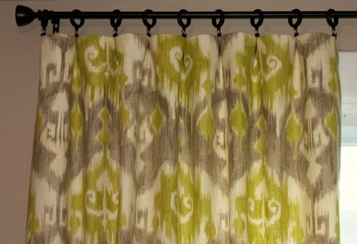 Curtains Ideas batik curtain panels : Hand Made Braemore Jakarta Batik Ikat In Seaspray Citrine Blue ...