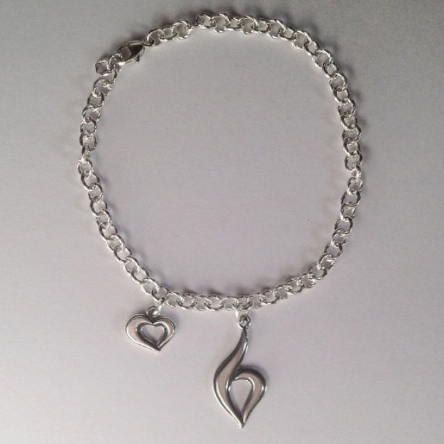 Handmade Bracelet With Eating Disorder Symbol By Apdesigns