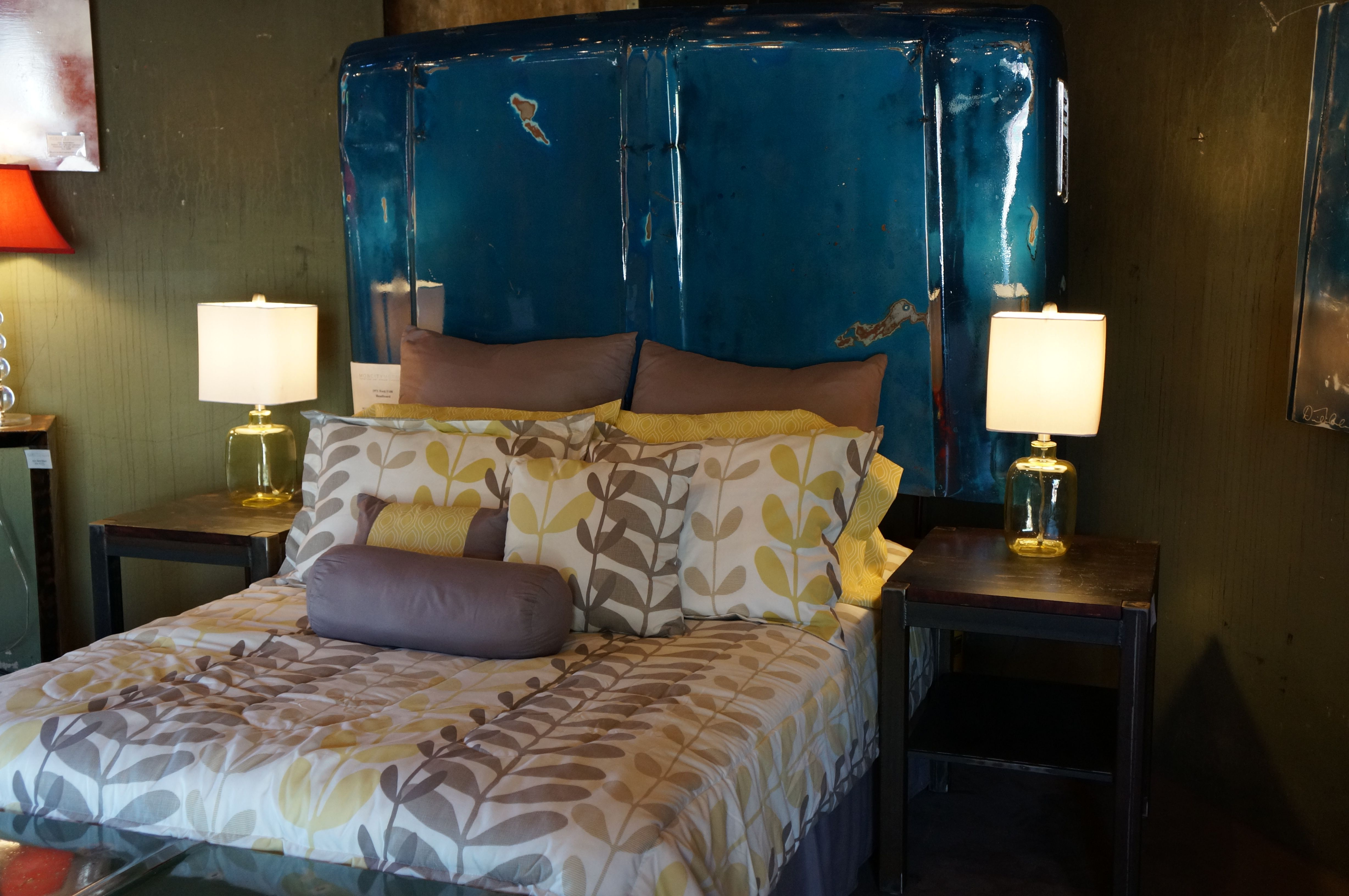 Buy A Handmade Industrial Metal Carhood Headboard Made To