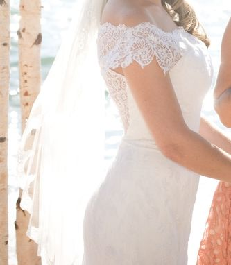Custom Made Vintage Lace Wedding Gown