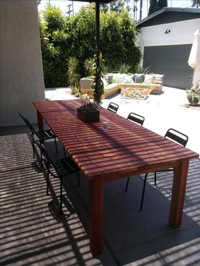 Custom Made Redwood Parson Table