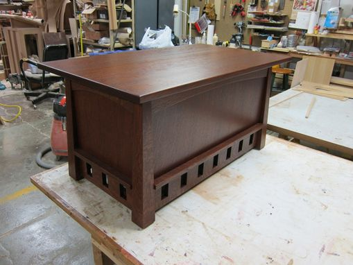 Custom Made Arts-And-Crafts Pagoda Coffee Table And Blanket Chest