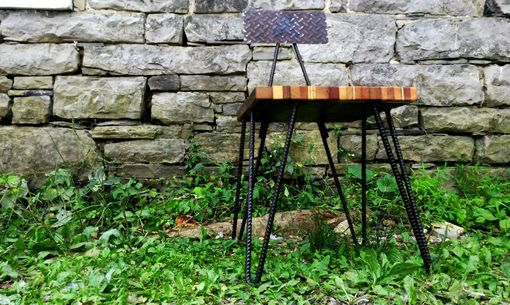 Custom Made Hipster Industrial Dining Chairs With Hairpin Rebar Legs And Reclaimed Wood