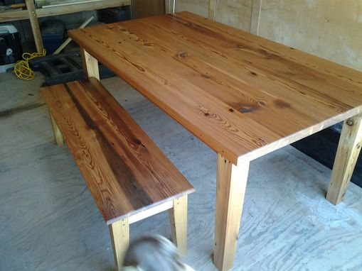 Custom Made Table And Bench