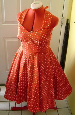 Custom Made Diy Dress Sewing Kit For A 1950s Swing Dress Made To Fit You Any Size Any Color