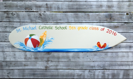 Custom Made Surfboard Wood Signage Board, Party Signature Guest Book Gift Idea