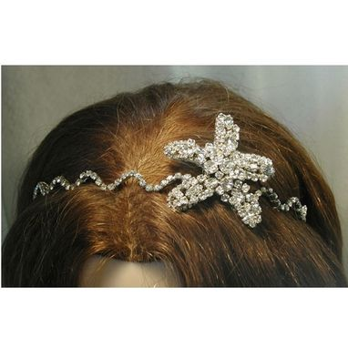 Custom Made Custom Beach Wedding Bridal Tiara, Headband And Comb