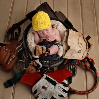 Custom Made Lineman Baby Outfit Lineman Boots