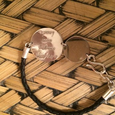 Custom Made Personalized Leather Bracelet