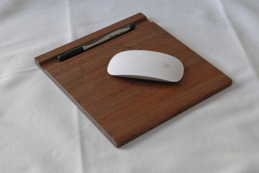 Custom Made Wooden Mousepad And Computer Stand