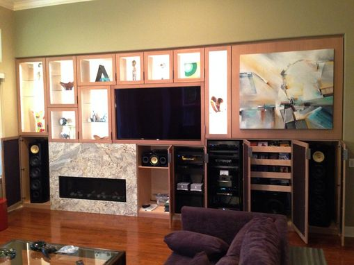 Custom Made Entertainment Center, Wall Unit