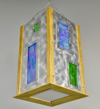 Custom Made Stained Glass Custom Contemporary Modern Light